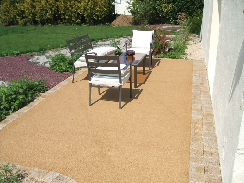 Am nagement int rieur ext rieur for Terrasse en dalle beton sur sable